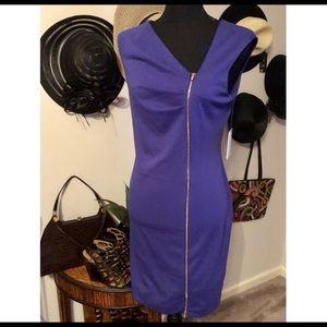 Calvin Klein Scuba Knit Side Zip Sheath Dress